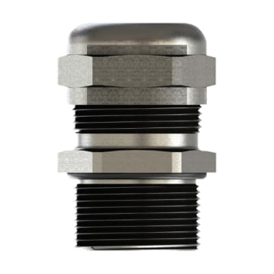 Cable gland s.steel 304L+nut M16