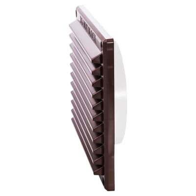 Rytons 6 x 6 Louvre with Flyscreen & 122mm Dia. Backplate Set Bagged - Brown