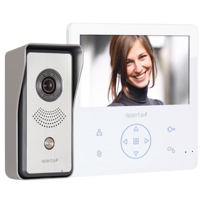 ESP Colour Video Door Entry System With Record Facility - White