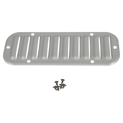Schneider ClimaSys Metal Outlet Grille Cut-Out 216 x 62mm Louvre Vent - Grey