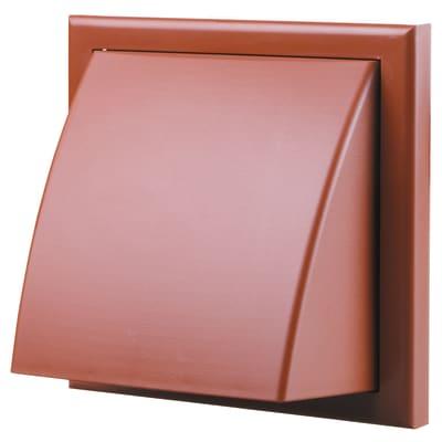 Blauberg Plastic Cowled Wall Grille - 150mm - Terracotta