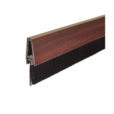 Exitex Brush Seal Strip - 914mm - Mahogany Effect