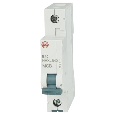 Wylex 40A NHXL Single Pole MCB - Type B