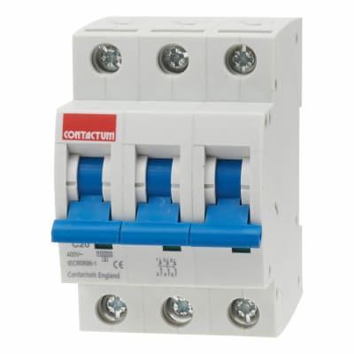 Contactum 20A 10kA Triple Pole MCB - Type C