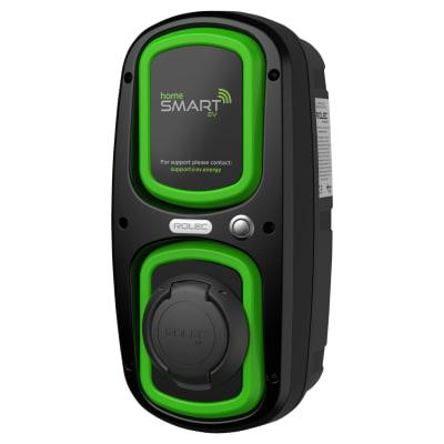 Rolec 32A 7.2kW WallPod:EV Home Smart Socket Charging Unit -Type 2 - Black/Green
