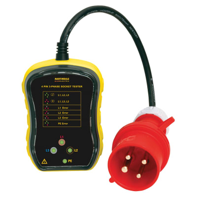 Martindale PC104 16A 3 Phase Industrial Socket Tester
