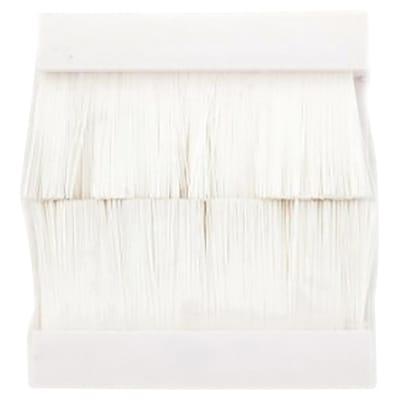 Ultima Modular Wall Plate Insert Single Brushes - 50 x 50mm - White