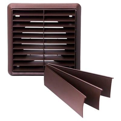 Rytons Louvred/Gravity Grille Bagged - Brown