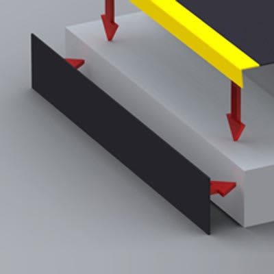 SlipGrip Riser Plate - 3000 x 145mm - Black