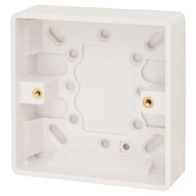 Click Scolmore 1 Gang 25mm Pattress Box - White