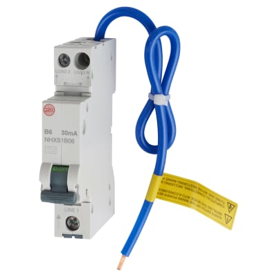 Wylex 6A 30mA Single Pole RCBO - Type B