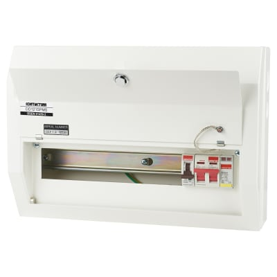 Contactum 12 Way 100A Main Switch Consumer Unit with SPD
