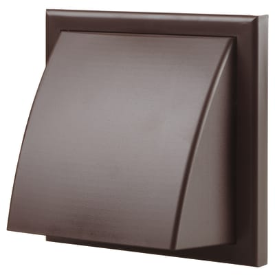 Blauberg Plastic Cowled Wall Grille - 100mm - Brown