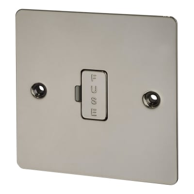 BG 10A Flatplate Fused Connection Unit with Neon - Satin Nickel