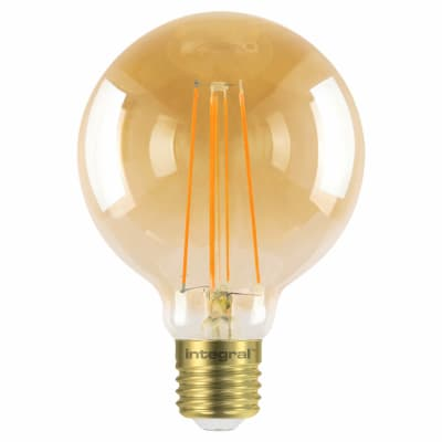 Integral LED 5W Sunset Vintage G95 Globe Dimmable Filament Lamp - E27 - 1800K