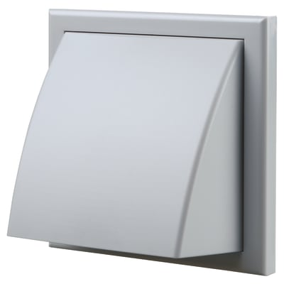 Blauberg Plastic Cowled Wall Grille - 150mm - Grey