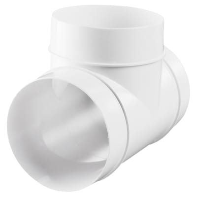 Blauberg Plastic Circular Tee Piece - 100mm