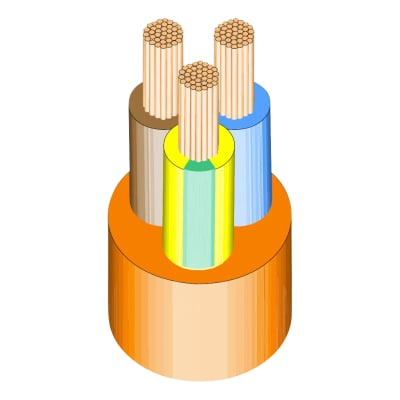 3183Y PVC Flex 3 x 1.5mm x 100m - Orange