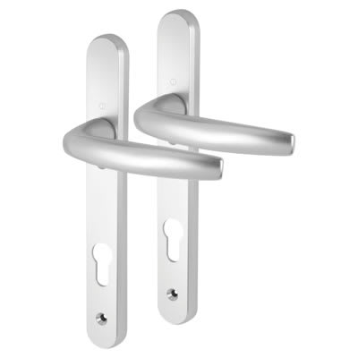Hoppe Atlanta Multipoint Handle - uPVC/Timber - 92mm centres - 70mm door thickness - Silver