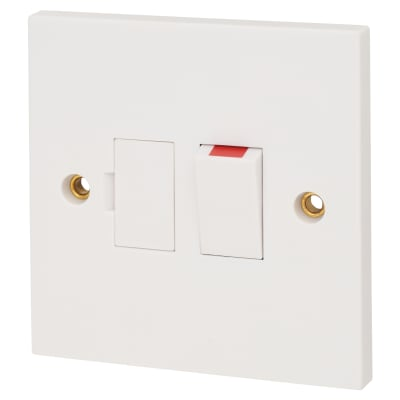 Schneider Exclusive 13A Switched Fused Connection Unit - White