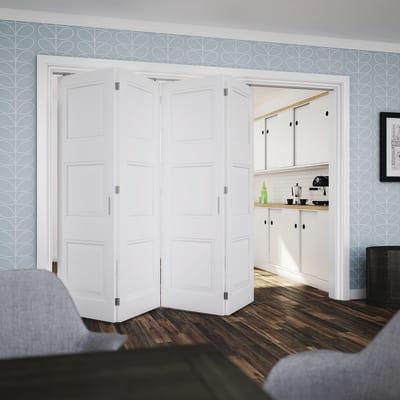 Klug Folding Door Kit - 3m Track for 40kg Doors - 4 Leaves in Two Directions