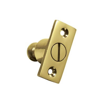 Altro Screw Out Sash Stop - 44 x 19mm - Polished Brass