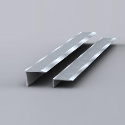 EdgeGrip Aluminium Nosing - 1000 x 55 x 55mm - Aluminium/Silver