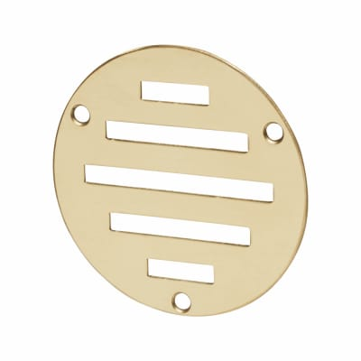 Circular Slotted Vent - 76mm - 900mm2 Free Air Flow - Polished Brass