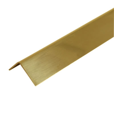 2000mm Sheet Finished Angle - 32 x 32 x 0.91mm - Polished Brass