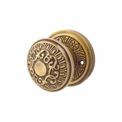 M Marcus Aydon Mortice Door Knob - Antique Brass