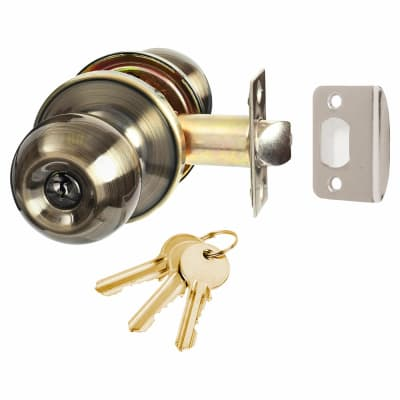 Touchpoint Bala Hotel Entrance Knobset -Antique Brass