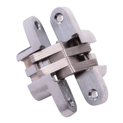 Tago Concealed Hinge - 60 x 13mm - Satin Chrome - Pair