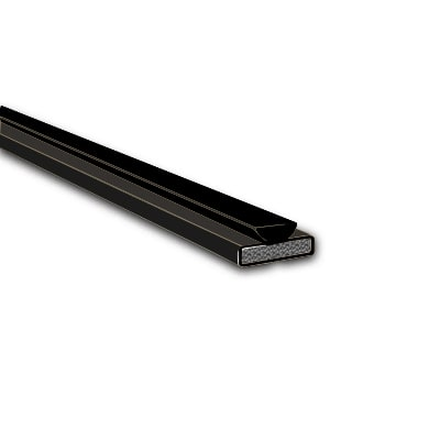 Fire & Smoke Intumescent Strip - 10 x 4 x 2100mm with Brush Pile - Black - Pack 10