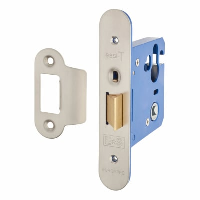 A-Spec Architectural Mortice Nightlatch - 76mm Case - 57mm Backset - Radius - Satin Stainless