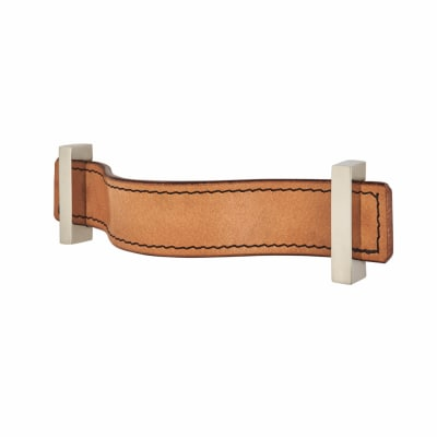 Leather Cabinet Handle - Strap - Modern - Tan