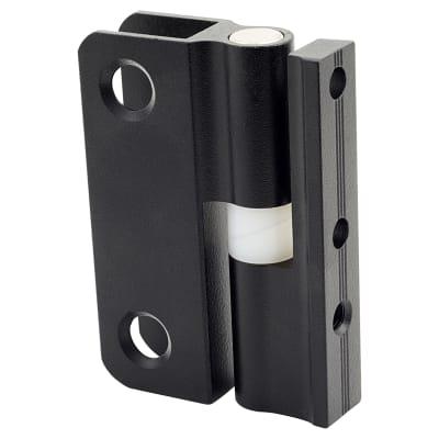 Pro Self Closing Hinge - Black Textured - 12-13mm Panels