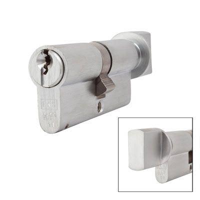 Eurospec MP10 - Euro Cylinder and Turn - 35[k] + 35mm - Satin Chrome  - Master Keyed