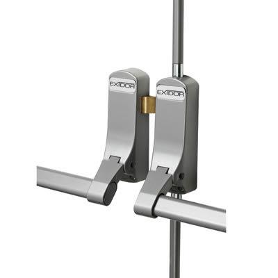 Exidor 285 Rebated Double Door Panic Bar Set - Timber