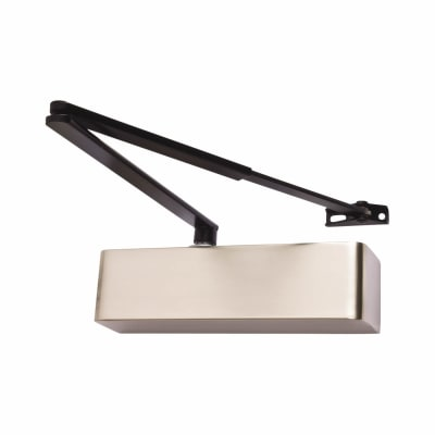 Arrone® AR1500 Door Closer - Black Arm - Satin Stainless Cover