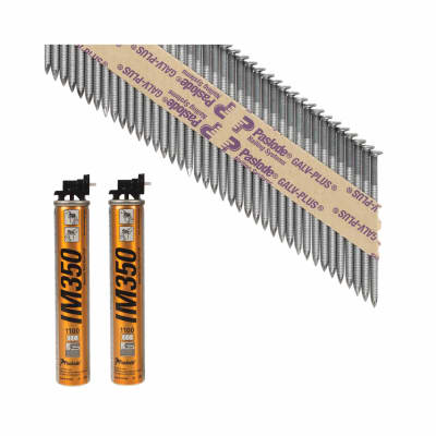 Paslode IM350 Framing Nail & Gas - First Fix - 63 x 3.1mm - Galv Plus - Pack 2200