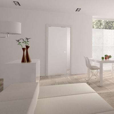 Eclisse 8mm Glass Single Pocket Door Kit - 100mm Wall - 826 x 2040mm Door Size