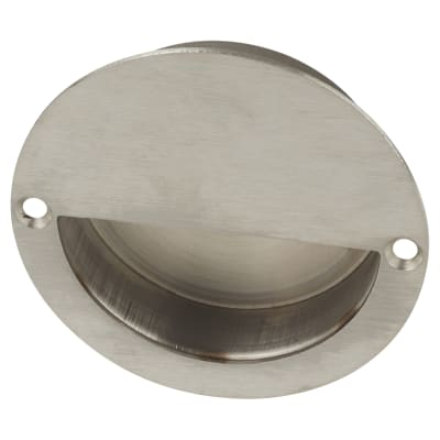 Altro Circular Flush Cabinet Handle - 90mm - Satin Stainless Steel
