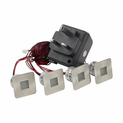 Leyton LED Piazza Plinth With Driver - 35 x 35mm - 4 x 0.25W