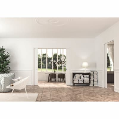 Eclisse Double Pocket Door Kit - 100mm Finished Wall - 838+838 x 1981mm Door Size