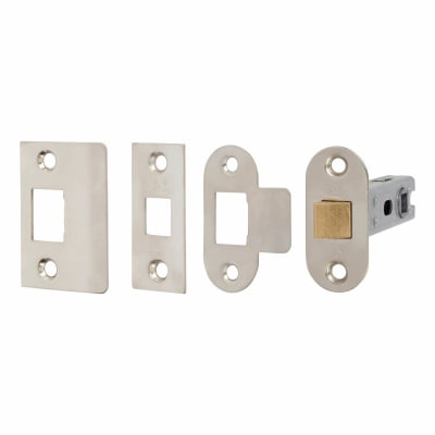 Project Contract Bolt Through Tubular Latch - 76mm Case - 56mm Backset - Nickel Plated