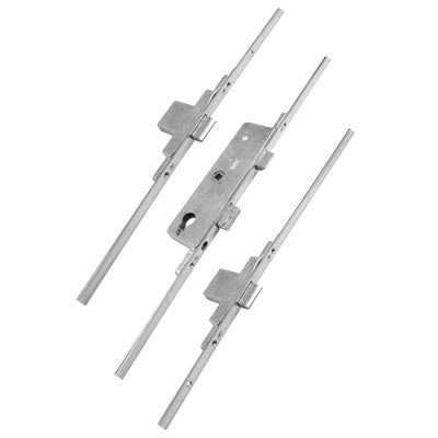 Fullex Multipoint Door Lock - Split Spindle - 3 Deadbolts - 68mm Cntres - 35mm Backset - uPVC / Tim