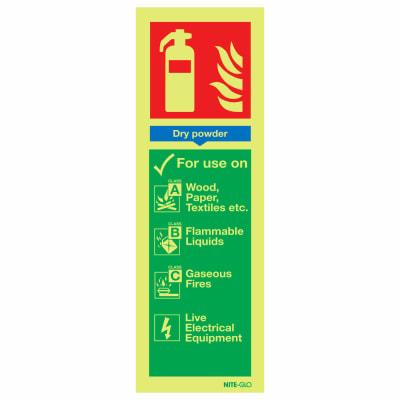NITE-GLO Dry Powder Extinguisher - 300 x 100mm