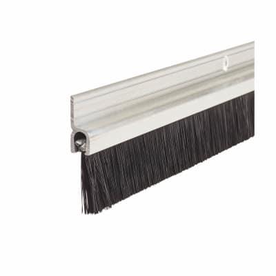 Brush Seal Strip - 914mm - Satin Aluminium
