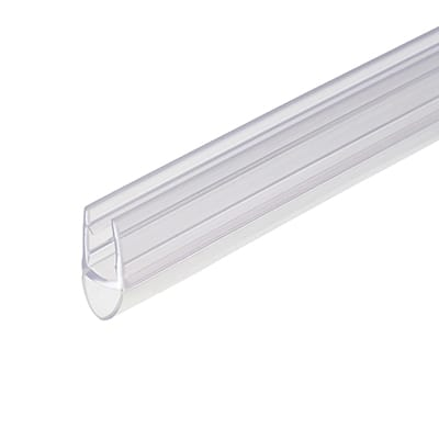 Croydex Clear PVC Shower Seal - Bubble Seal - Suits 4-6mm Glass