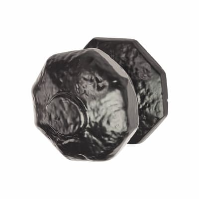 Colonial Centre Door Knob - 64mm Diameter - Metalized Antique Black Iron